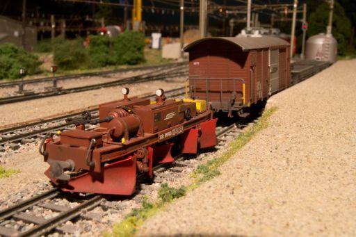 , MECF , Modelleisenbahn Club Flawil , Spurpflug RhB Xk 9143, MECF, Modelleisenbahn Club Flawil