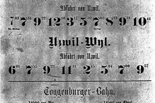MECF , Modelleisenbahn Club Flawil , Fahrplan , Zugnummernschema, MECF, Modelleisenbahn Club Flawil