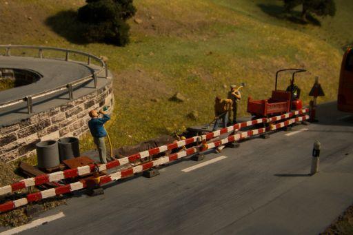 MECF , Modelleisenbahn Club Flawil , Strassenbaustelle , Warnleuchte , Tag-Nacht-Steuerung, MECF, Modelleisenbahn Club Flawil