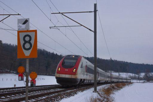 MECF , Modelleisenbahn Club Flawil , Gleisbaustelle , Langsamfahrstelle , ICN , RABDe 500 022 Expo.02 , SBB , Schottikon, MECF, Modelleisenbahn Club Flawil