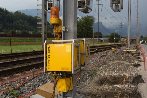 MECF , Modelleisenbahn Club Flawil , Gleisbaustelle , Langsamfahrstelle , Minimel AWTS , Automatisches Warnsystem, MECF, Modelleisenbahn Club Flawil