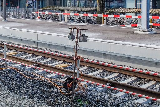 MECF , Modelleisenbahn Club Flawil , Gleisbaustelle , Langsamfahrstelle , Schweinwerfer, MECF, Modelleisenbahn Club Flawil