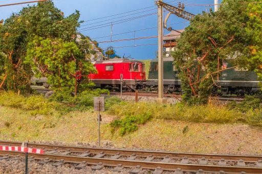 MECF , Modelleisenbahn Club Flawil , Gleisbaustelle , Langsamfahrstelle , Aufhebungssignal , Re 10/10, MECF, Modelleisenbahn Club Flawil