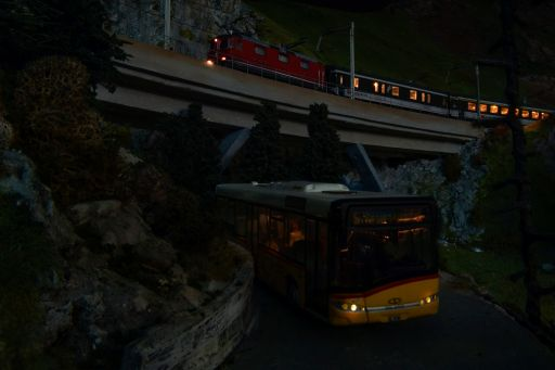 Tag-/Nachtsimulation, Animationssteuerung, MECF, Modelleisenbahn Club Flawil