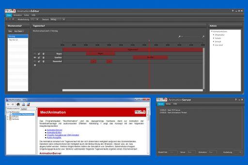 Tag-/Nachtsimulation, Animationssteuerung, Software, MECF, Modelleisenbahn Club Flawil